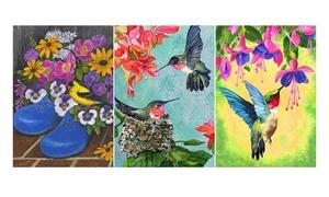 The Colorful Garden Bird Garden Flag