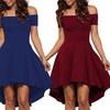 Off-Shoulder A Line Dress