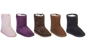 Dawgs Kid's and Toddler's Faux Shearling Boots
