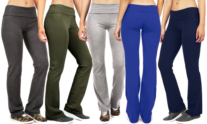 60% Off on Women's Solid-Color Yoga Pants | Groupon Goods