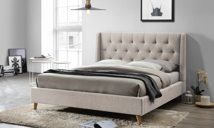 Up To 60 Off On Adelaide Platform Bed Groupon Goods
