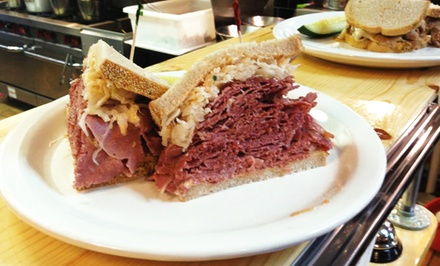 Deli Cuisine and New York–Style Pizza at The Bronx Deli (Up to 34% Off). Three Options Available.