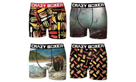 Set van 4 paar boxers van het merk Crazy Boxer voor heren