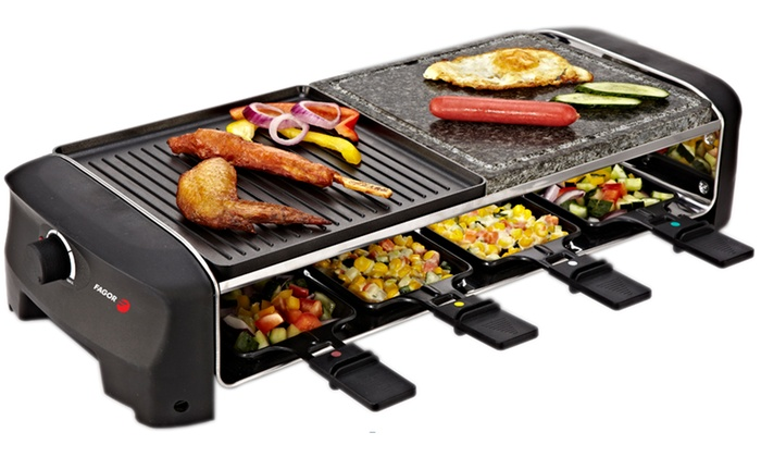 raclette grill party fagor groupon shopping. Black Bedroom Furniture Sets. Home Design Ideas