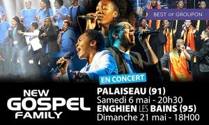 Master Music: 1 place pour New Gospel Family les 06 mai et 21 mai à 12 € à Palaiseau et Enghein-les-Bains