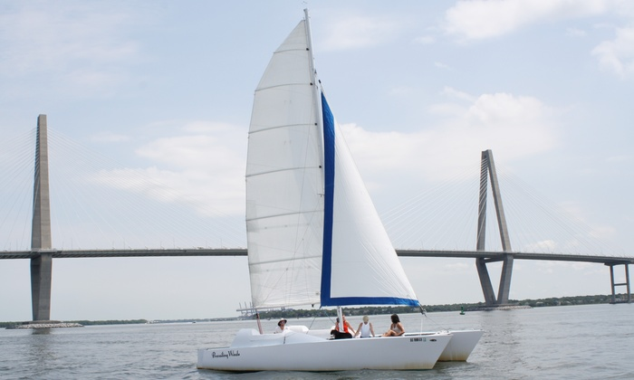 Charleston Sailing Adventures -  Charleston Sailing Adventures: 90-Minute Sunset Cruise or Private Charter Cruise from Charleston Sailing Adventures (Up to 46% Off)