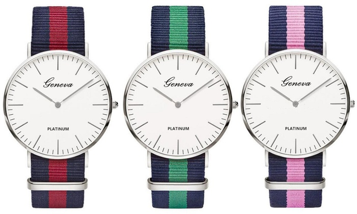 One, Two or Three Unisex Striped Watches