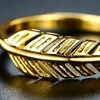Palm Leaf Ring in 18k Gold Plating by Sevil