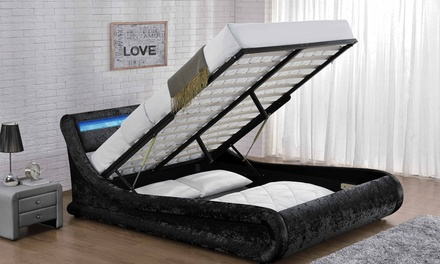 galaxy led fabric bed frames