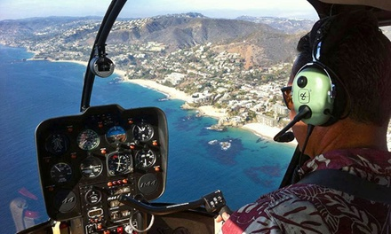 Helicopter Tour of  Newport Beach or Laguna Beach for Two from OC Helicopters (50% Off)