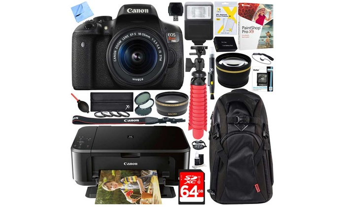 Shop Groupon Canon EOS Rebel T6 18MP 1080p DSLR Bundle