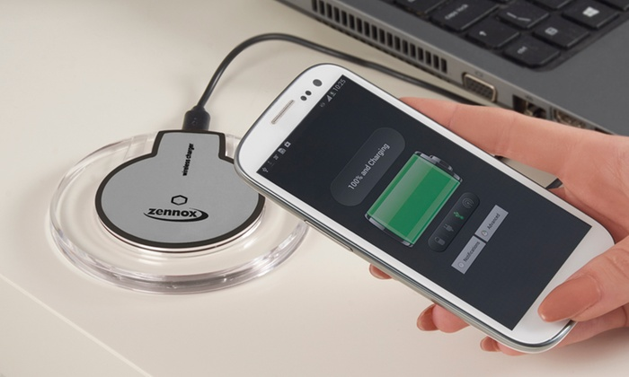 Wireless Charger Pad with Optional iPhone Adapter for £6.95