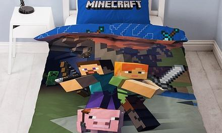Zweiseitige Bettwäsche für Kinder in Minecraft-Optik
