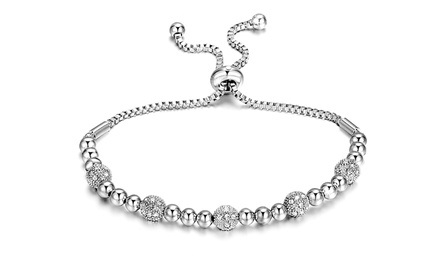 One or Two Philip Jones Beaded Friendship Bracelets with Crystals from Swarovski®