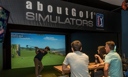 One- or Three-Hour Golf Simulator Access for Up to Four People at Greens Indoor Golf & Cafe (Up to 50% Off)