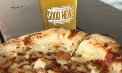 Two or Four 10 oz. Beers and One or Two Pizzas at Good News Brewing Company (Up to 39% Off)