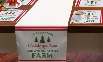 One Custom Holiday Table Runner or Two or Four Custom Holiday Placemats from Monogram Online (Up to 71% Off)