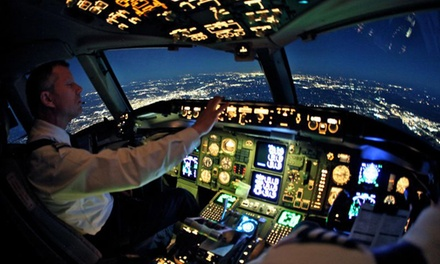 Up to 120 Minutes of Flight Simulator Experience at SimAir737