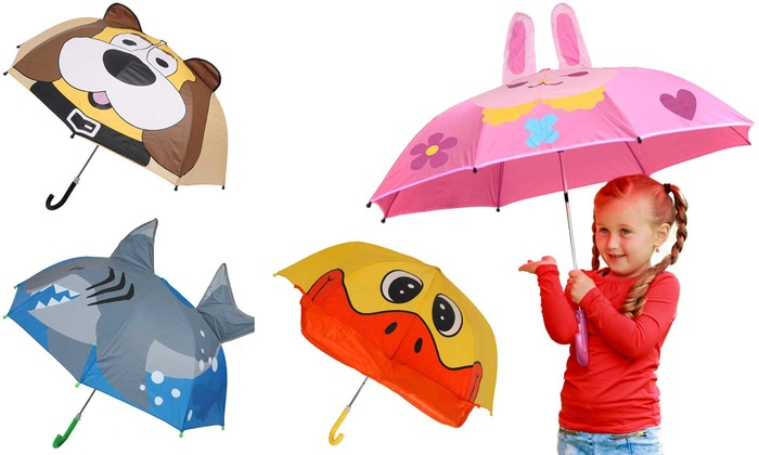 One or Two Kid's Animals Umbrellas