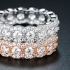 Cubic Zirconia Floral Eternity Band Ring by Hobart