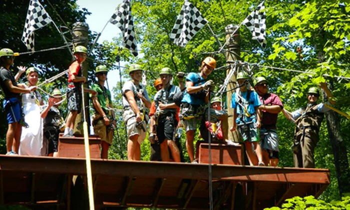 eXplore Brown County at Valley Branch Retreat - Nashville: Zipline Canopy Tour at eXplore Brown County at Valley Branch Retreat (Up to 59% Off). Five Options Available.