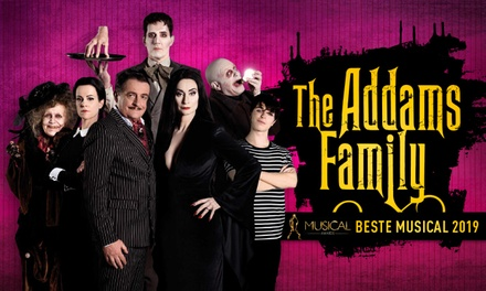 Tickets voor de Broadwayhitmusical The Addams Family in het DeLaMar Theater in Amsterdam