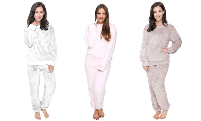 Pink or Grey Women's Snuggle Fleece Loungewear From £15.98