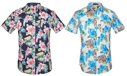 Short Sleeve Hawaiian-Style Shirt