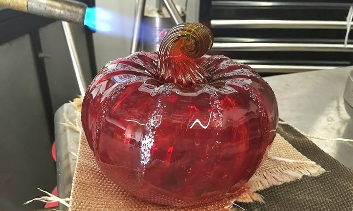 Redmond School of Glass - Redmond: Glass-Pumpkin Halloween Workshop for One, Two, or Four at Redmond School of Glass (Up to 42% Off)