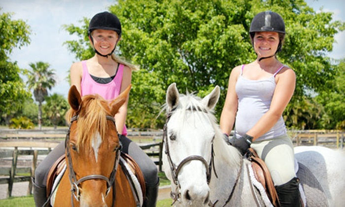 Boca Riding Club at Equestrian Connections - Delray Beach: One or Four Horseback-Riding Lessons or Kids' Pony Camp at Boca Riding Club at Equestrian Connections (Up to 54% Off)