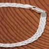 Italian Sterling Silver Braided Herringbone Bracelet by Verona