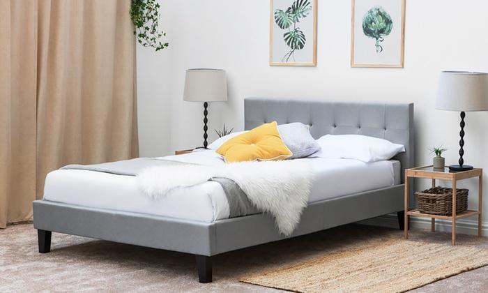 Blenheim Fabric Bed Frame with Optional Mattress