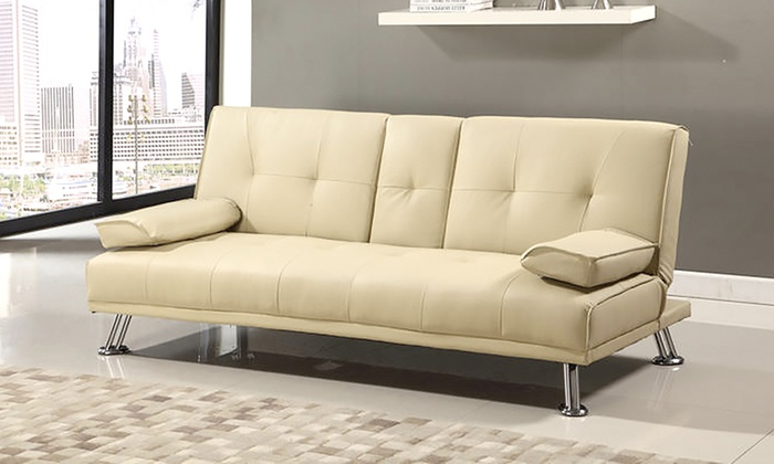 Up to 50 off indiana three seater sofa bed groupon for Sofa bed groupon