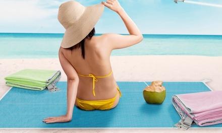 1x, 2x oder 3x sandfreie Strandmatte in Blau, Pink oder Grün, 200 x 150 cm