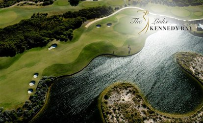 18 Holes of Golf with 40 Practice Balls and Gatorade for 2 ($55) or 4 ($109) at Kennedy Bay Links (Up to $249.20 Value)