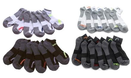 HEAD Men's No Show or Quarter Length Athletic Socks (12-Pair Pack)