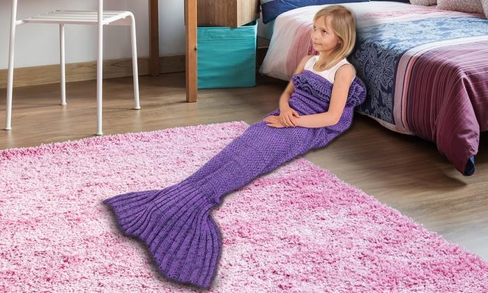 plaid queue de sir ne tricot e pour enfant groupon. Black Bedroom Furniture Sets. Home Design Ideas
