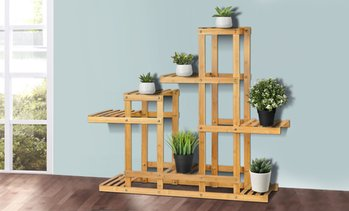 Bamboo Storage Rack Set