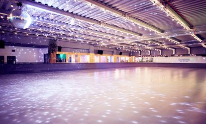 image for Ice Skating with Skate Hire for Up to 32 People at QUEENS Skate • Dine • Bowl (Up to 62% Off)