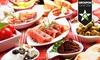 Spanisches Mittagsmenü mit Tapas