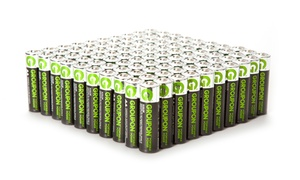 Groupon Portable Power AA or AAA Alkaline Batteries (100-Pack)