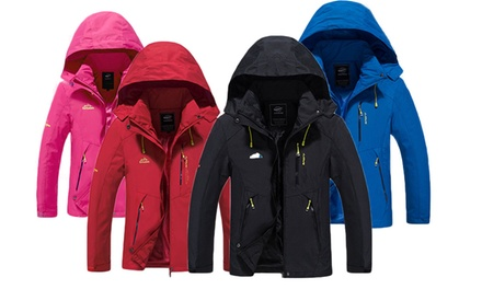 Waterproof and Windproof Hooded Jacket for Men or Women: One ($45) or Two ($85)