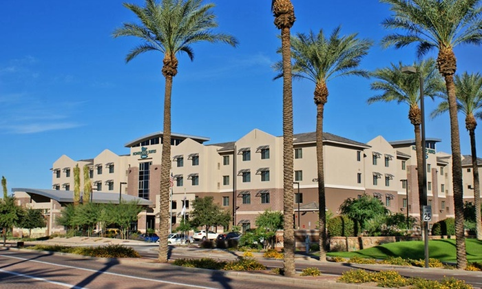 Homewood Suites by Hilton Phoenix Airport South - Cotton Business Center: Stay with Daily $10 Resort Credit at Homewood Suites by Hilton Phoenix Airport South in Phoenix, AZ. Dates into June.