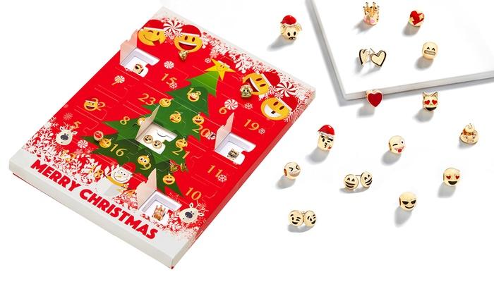 Groupon Calendario.Emoji Jewellery Advent Calendar Groupon