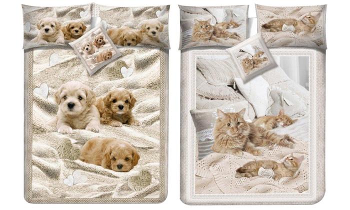 Copripiumino Con Animali.Completo Lenzuola O Set Copripiumino Groupon Goods