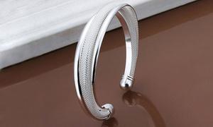 Bracelet acier rhodié