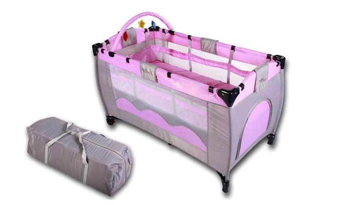 lit b b parapluie 3 en 1 groupon shopping. Black Bedroom Furniture Sets. Home Design Ideas