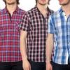 Something Strong Men's Plaid Short-Sleeve Shirts