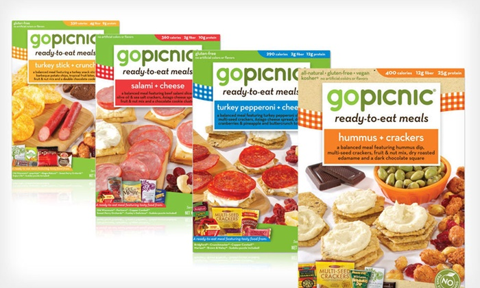 12-Pack of GoPicnic Ready-to-Eat Meals: $36 for 12 GoPicnic Ready-to-Eat Meals ($59.88 List Price). Four Options Available. Free Shipping.