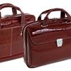 Siamod Italian Crocco Leather Laptop Briefcase